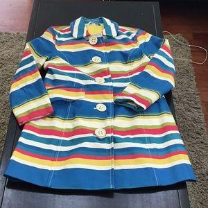 Boden striped trench coat jacket NWOT